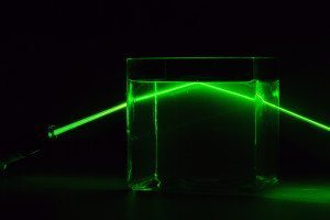 laser travelling through water