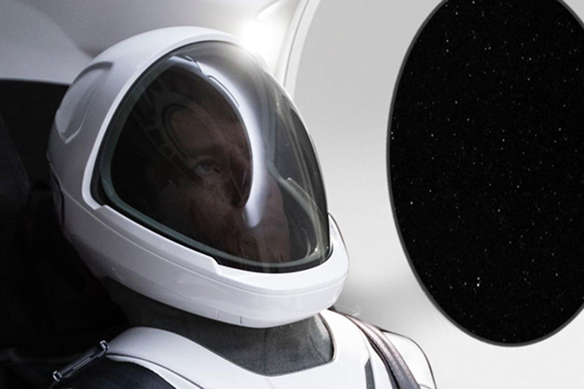 Elon Musk shows off first photo of SpaceX space suit