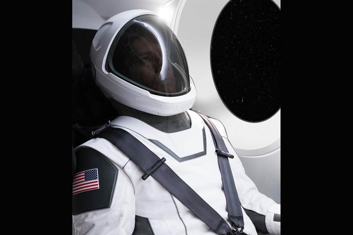 a spacex space suit