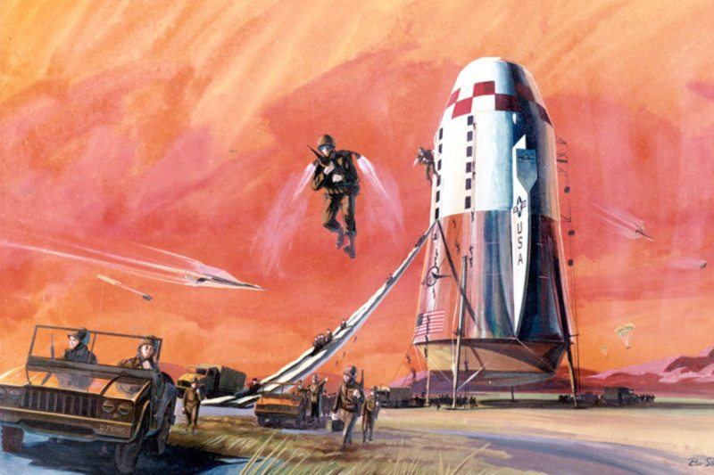 Artist's impression of rocket to carry US troops overseas