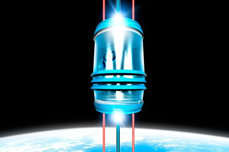 Artists impression of a space elevator