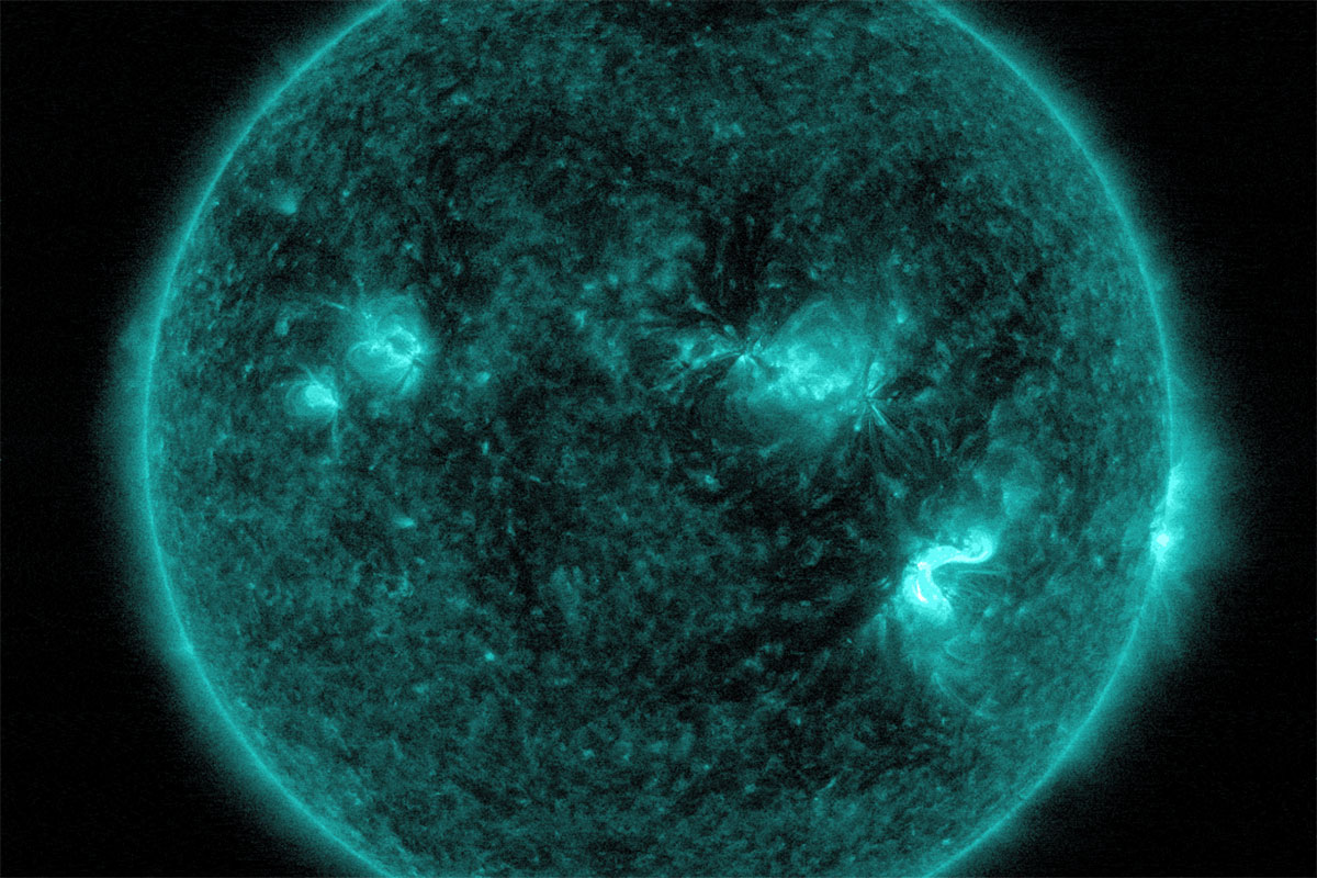 Strongest solar flare in a decade were many times larger than Earth