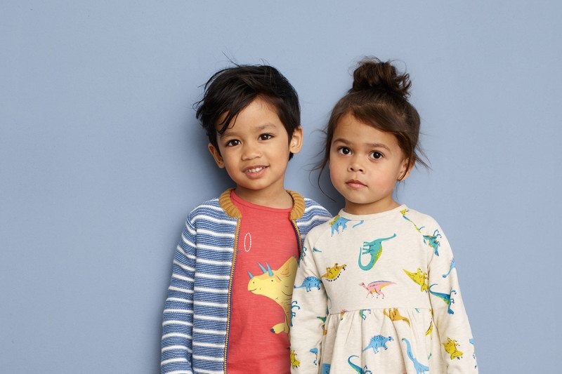 children in John Lewis's new clothes