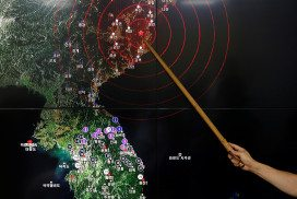 epicentre of recent seismic activity in North Korea