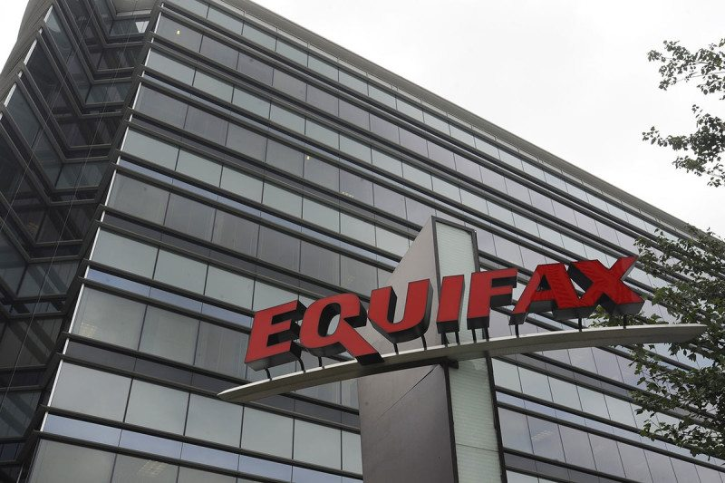 Equifax building and logo