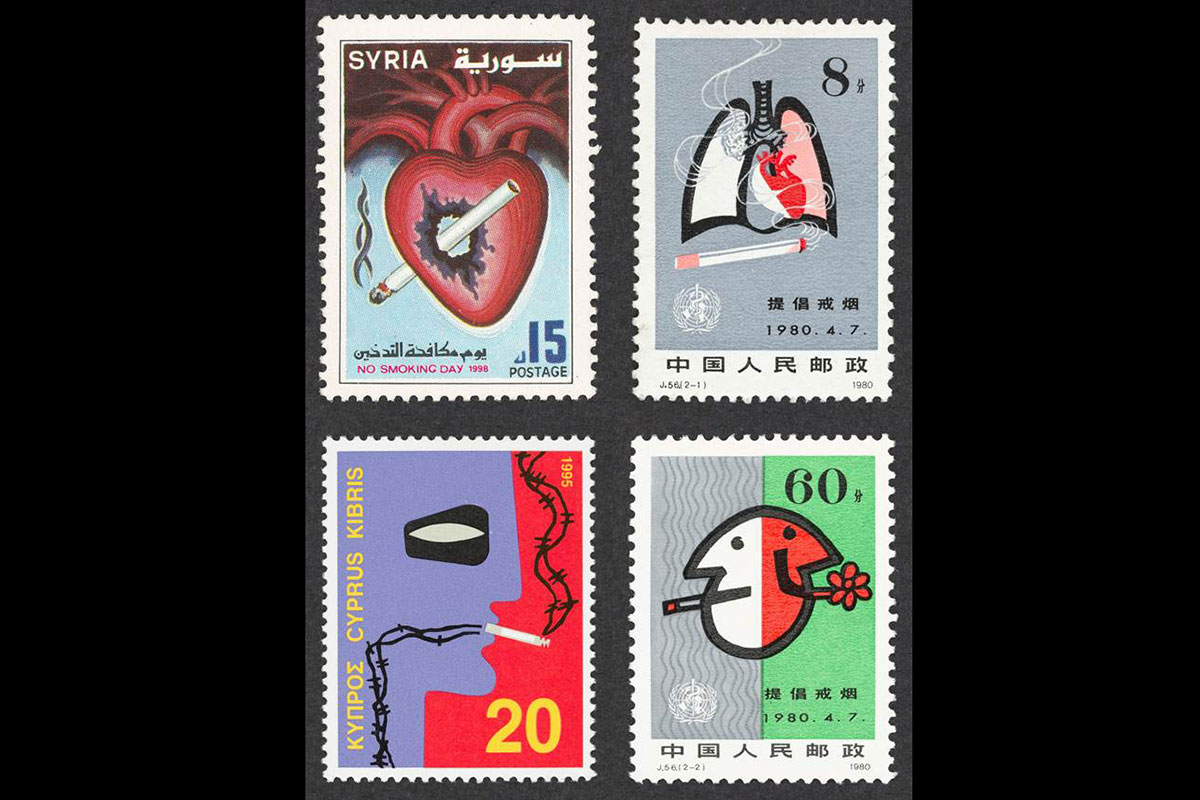 Anti-smoking stamps