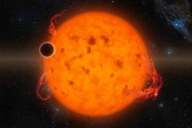 A planet close to a burning star