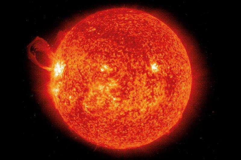 The sun's disc