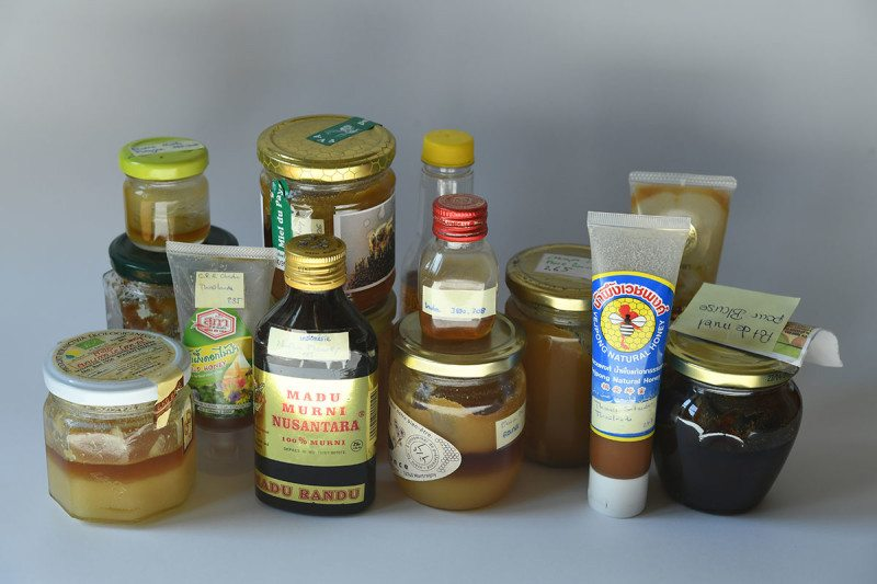 A collection of jars of honey