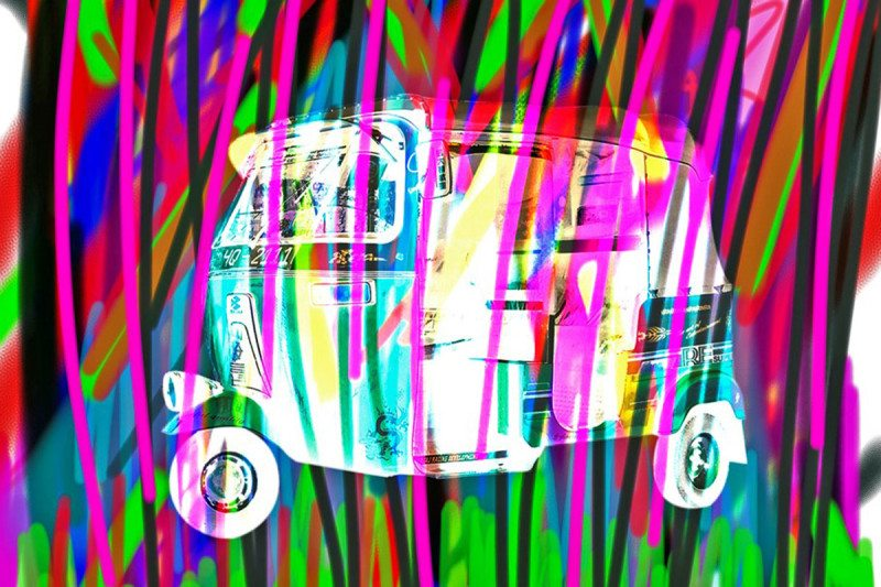 Art of auto rickshaw