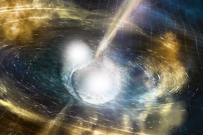 Illustration of colliding neutron stars
