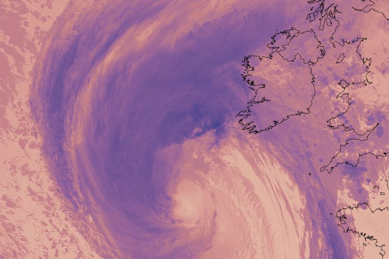 Hurricane Ophelia has hit Ireland as it sweeps past Europa
