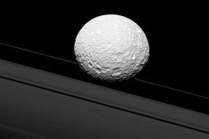 Saturn's moons band together to corral its rings
