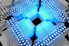 Quantum chip artwork