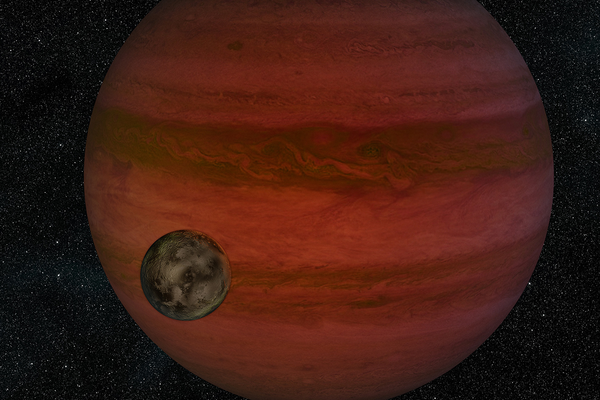 Possible exomoon may be an ocean-covered world as big as Saturn