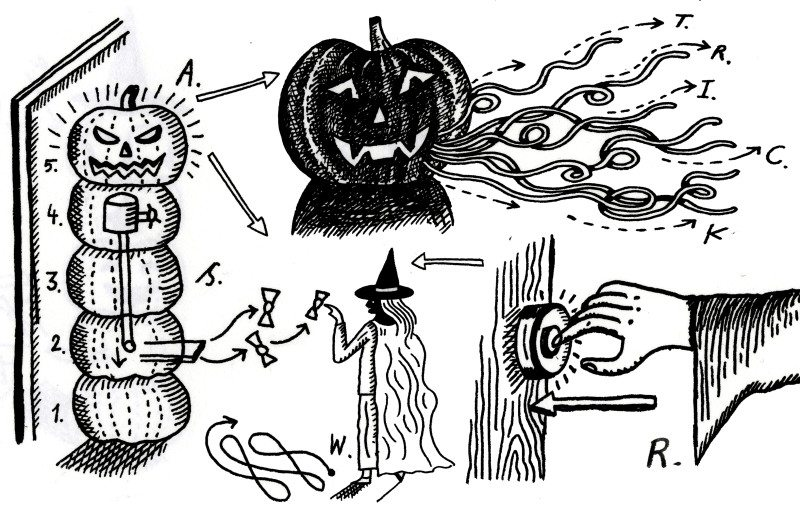 Halloween lantern cartoon