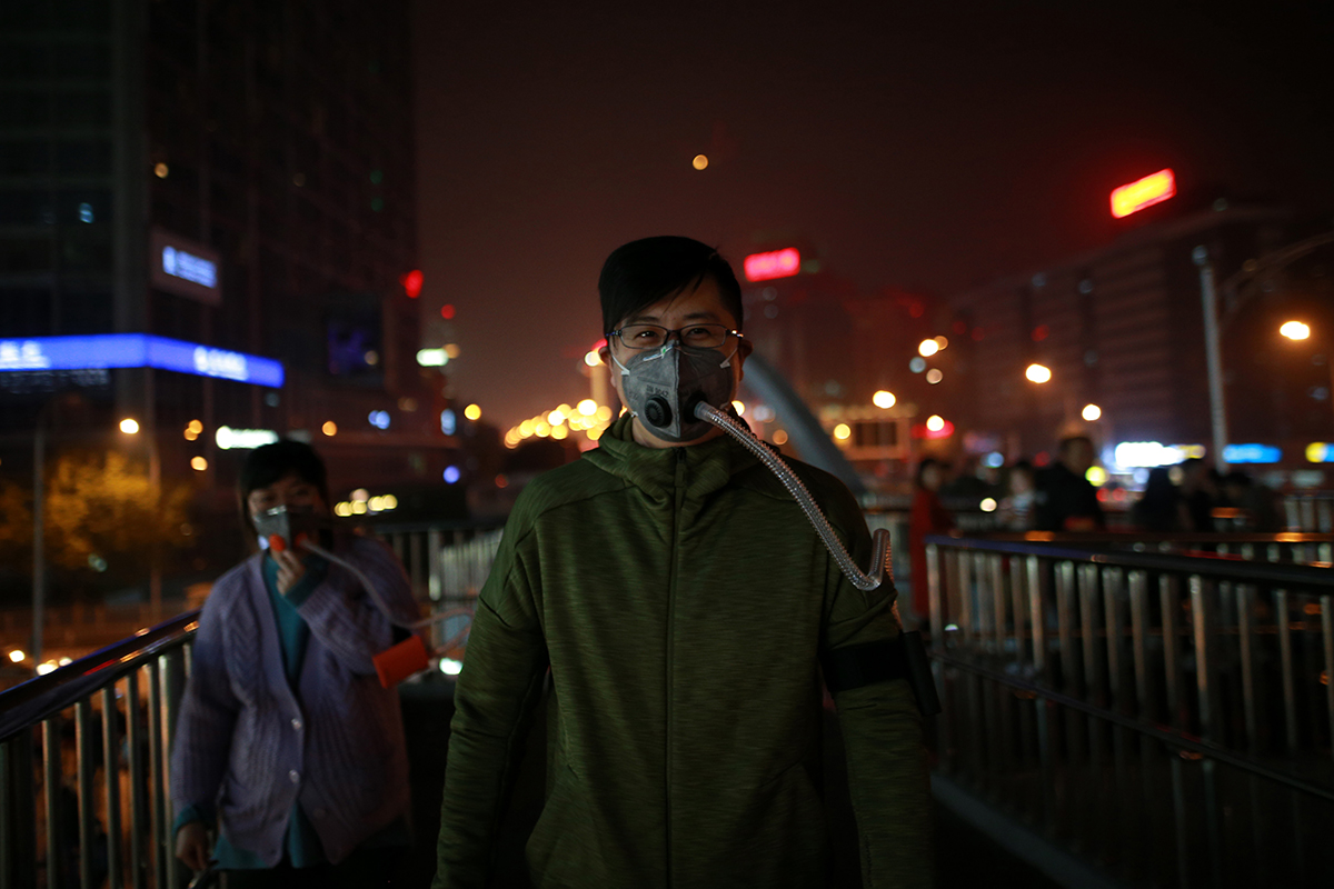 Air pollution strikes Beijing on 6 November 2017