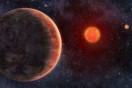 Artist's impression of GJ273 star system