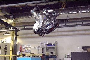 robot doing a back flip