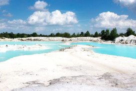 Land containing kaolinite clay in Indonesia