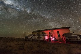 Milky Way: view from the Karoo desert of Pluto and MU69