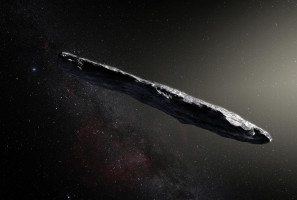An artist's impression of what the first interstellar asteroid may look like