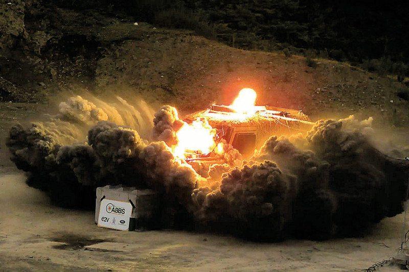 exploding car