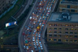 motorway busy with cars