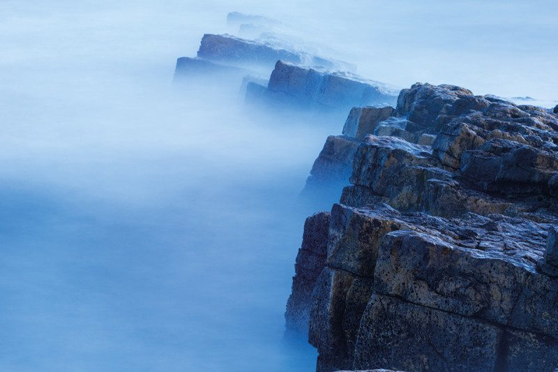 Cliffs with fog