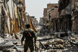Destruction in Raqqa, Syria