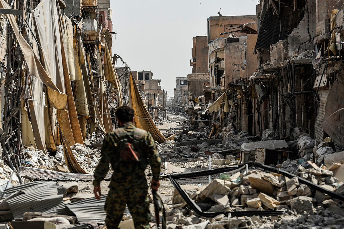 Destruction of war-torn Syria brought to London by AI