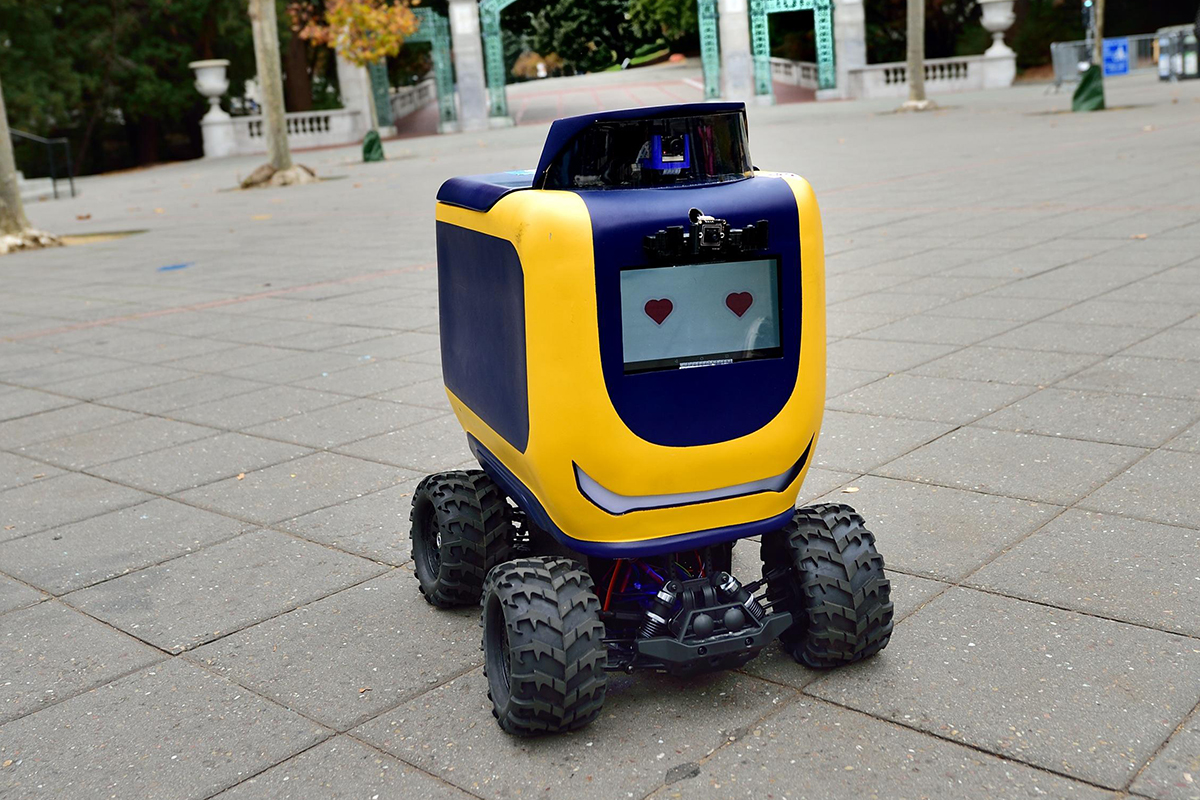 Food delivery robots are teaching themselves how to cross roads