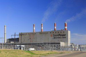 Boundary Dam Power Station in Saskatchewan, Canada