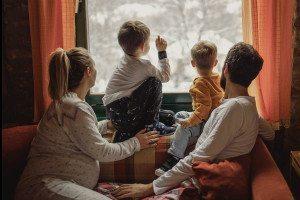 a family with boys