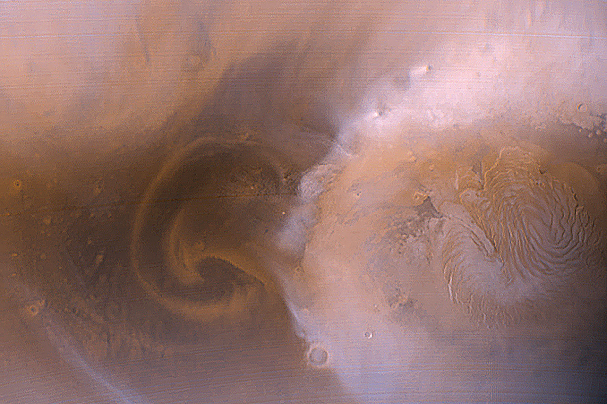 Mars overdue a planet-wide dust storm that could harm the rovers