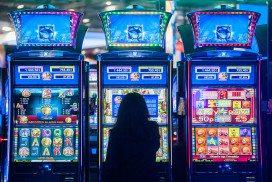 Woman at slot machines