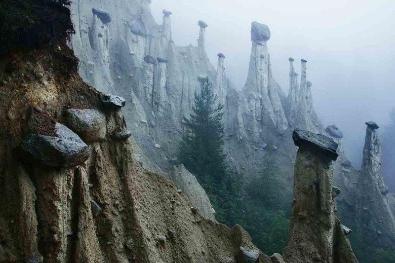 earth pyramids in Alps
