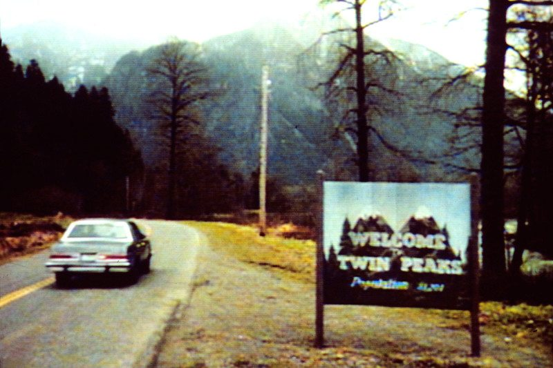 Twin Peaks road sign