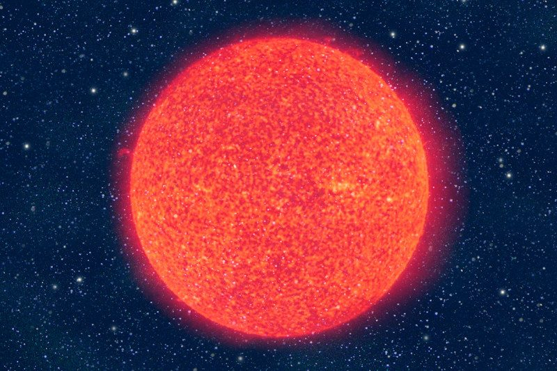 Are the planets around a red giant an illusion?