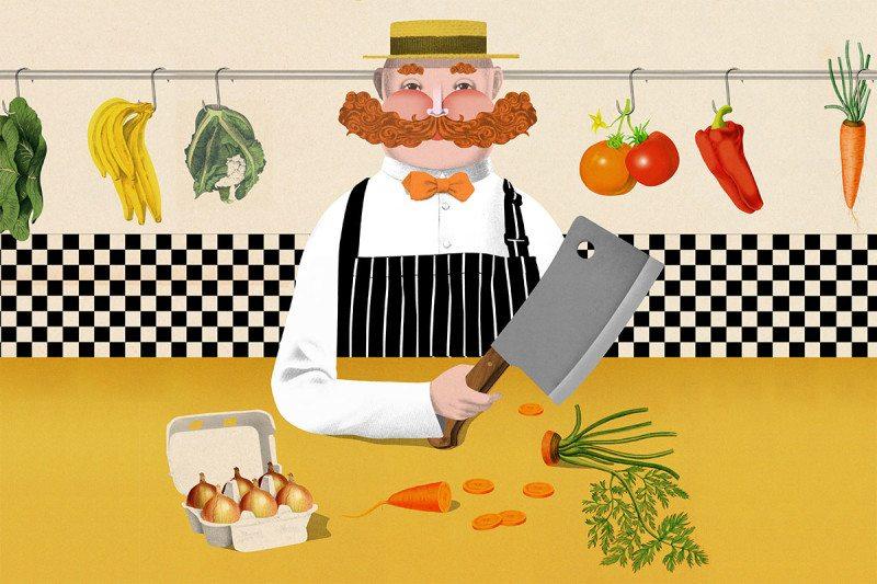 cartoon butcher