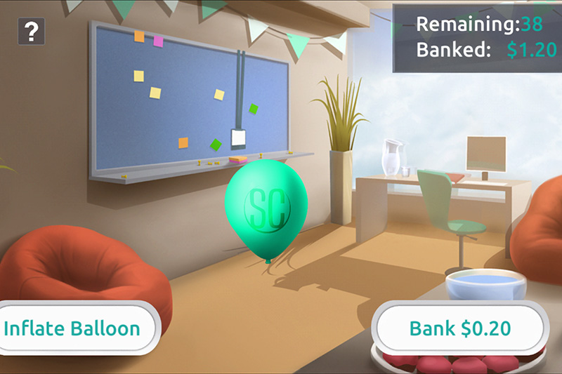 Balloon inflating game