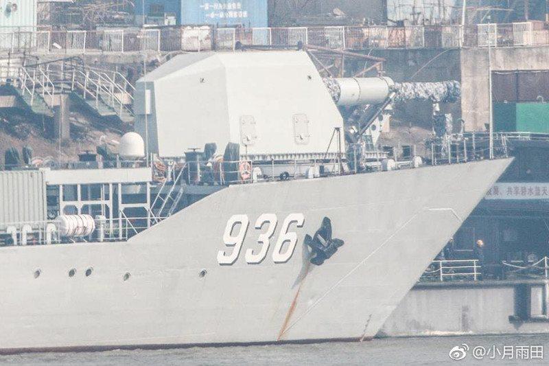 Suspected railgun on Chinese ship