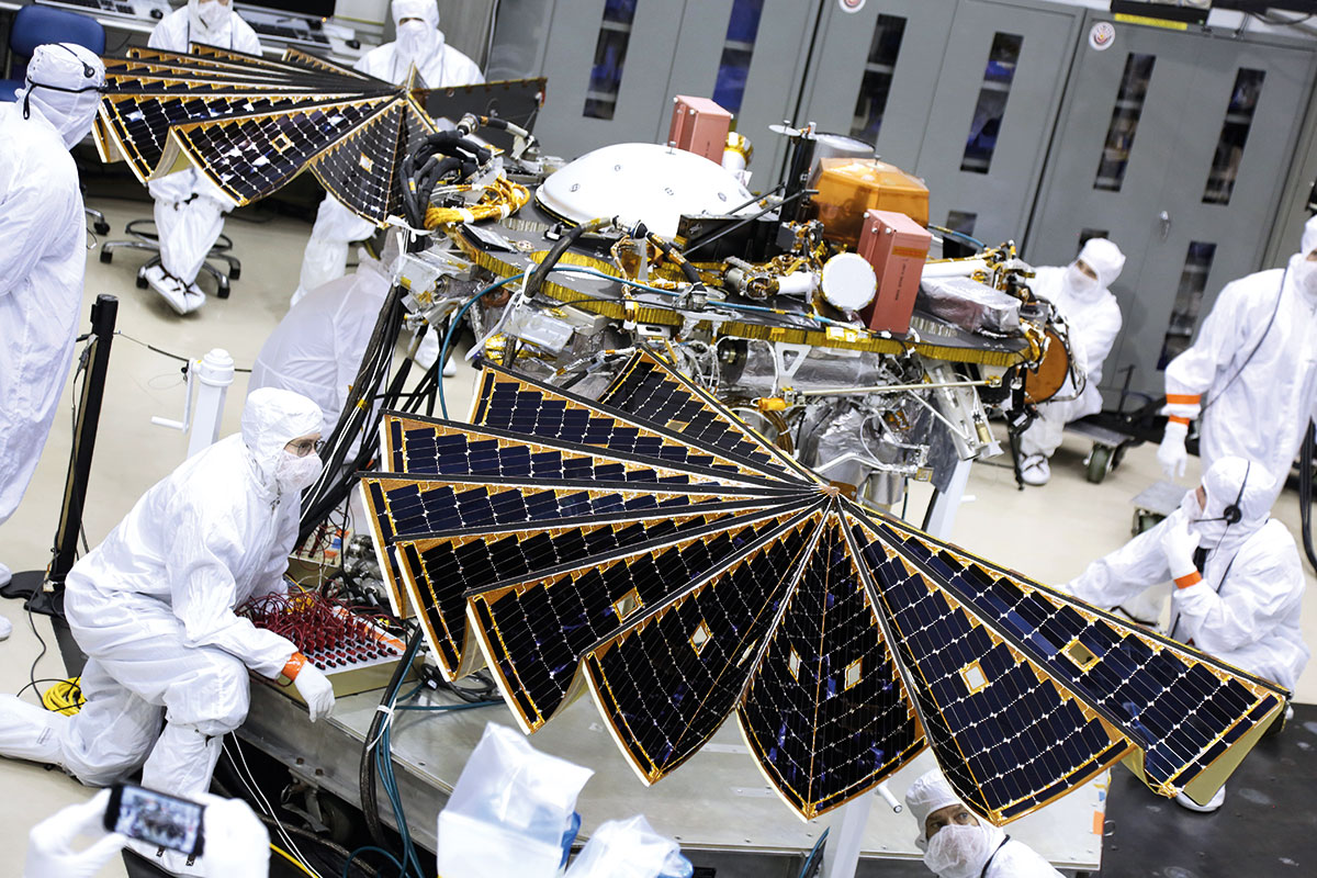 Delicate Solar Panels Of Martian Lander Are Tested Before