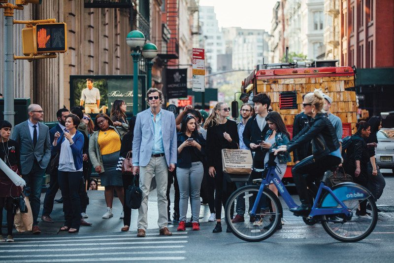 People in New York