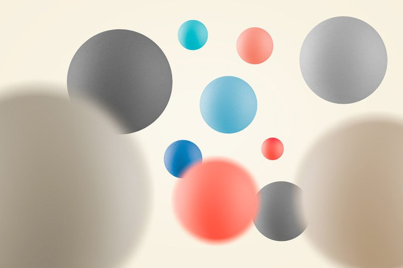 Coloured spheres