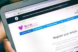 Donor registration screen