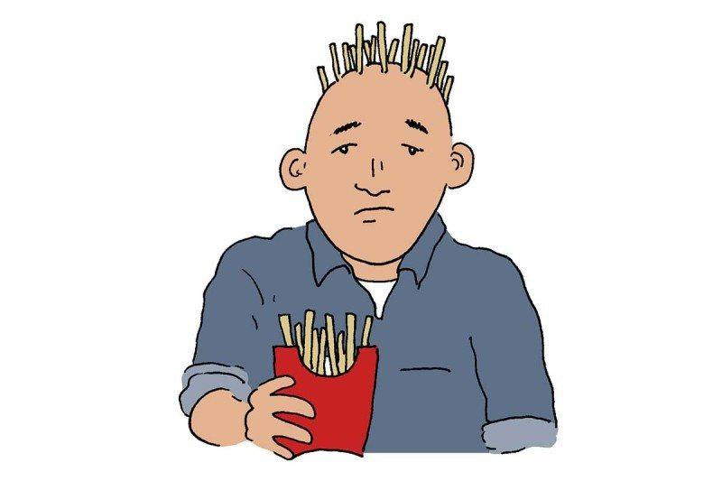 baldness cartoon