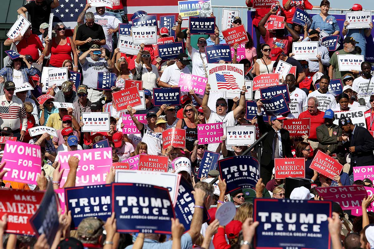 A rally for Donald Trump