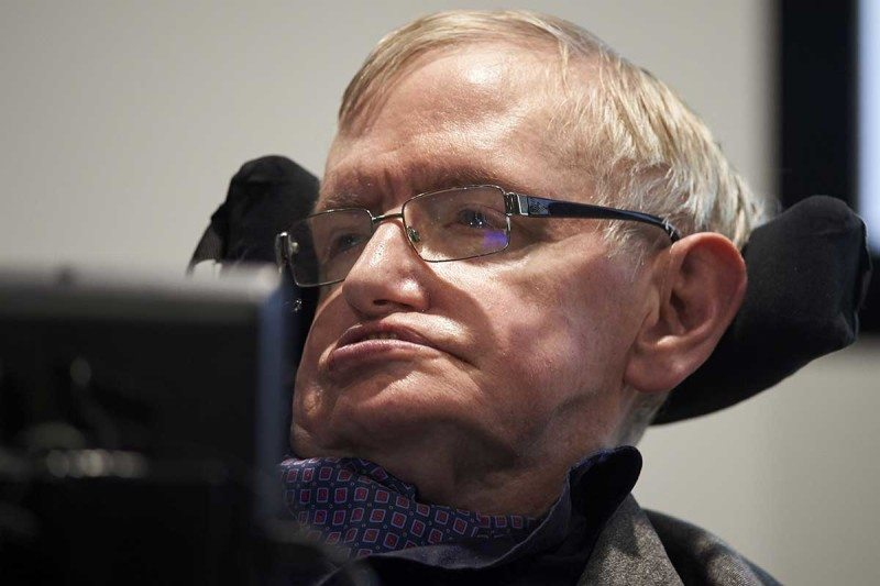 Stephen Hawking at the launch of the Leverhulme Centre for the Future of Intelligence at the University of Cambridge in 2016