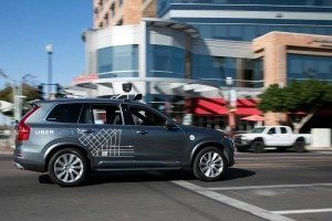 An Uber self-driving car in Tempe, Arizona